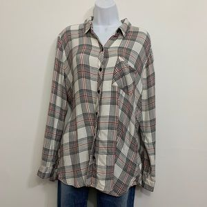 Plaid button top by Beach Lunch Lounge Size Xlarge